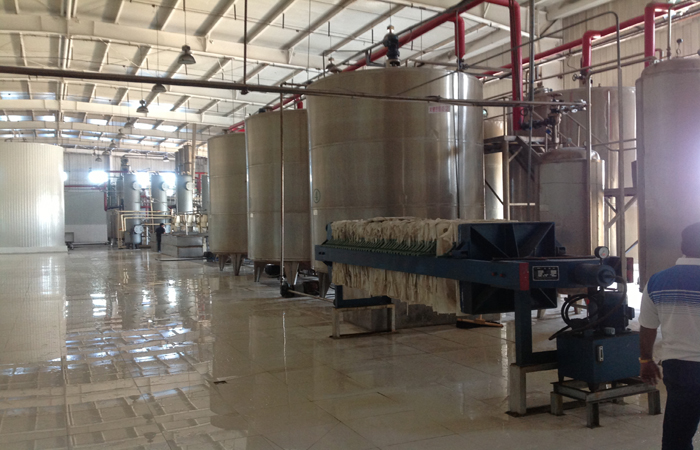 Corn syrup production plant run