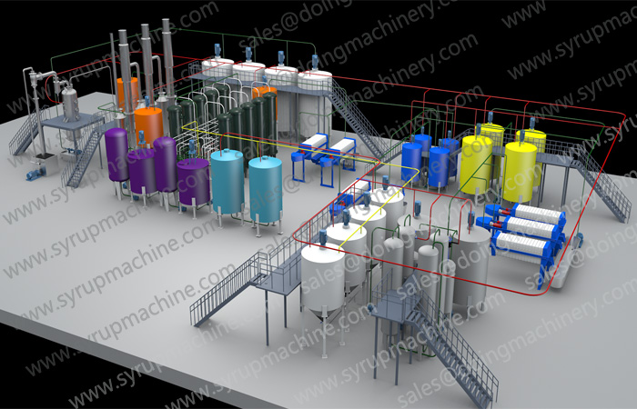 rice glucose syrup production line machine