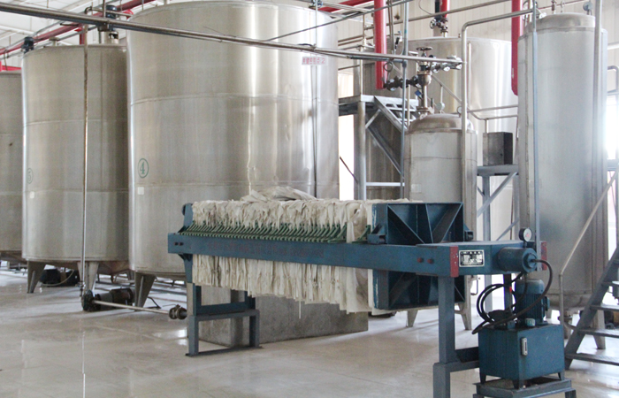Corn syrup production plant